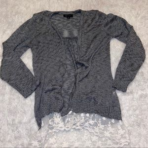 🦋 AB studio cardigan with lace bottom / Size M